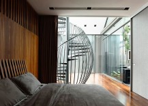 Master bedroom has a relaxed, contemporary vibe