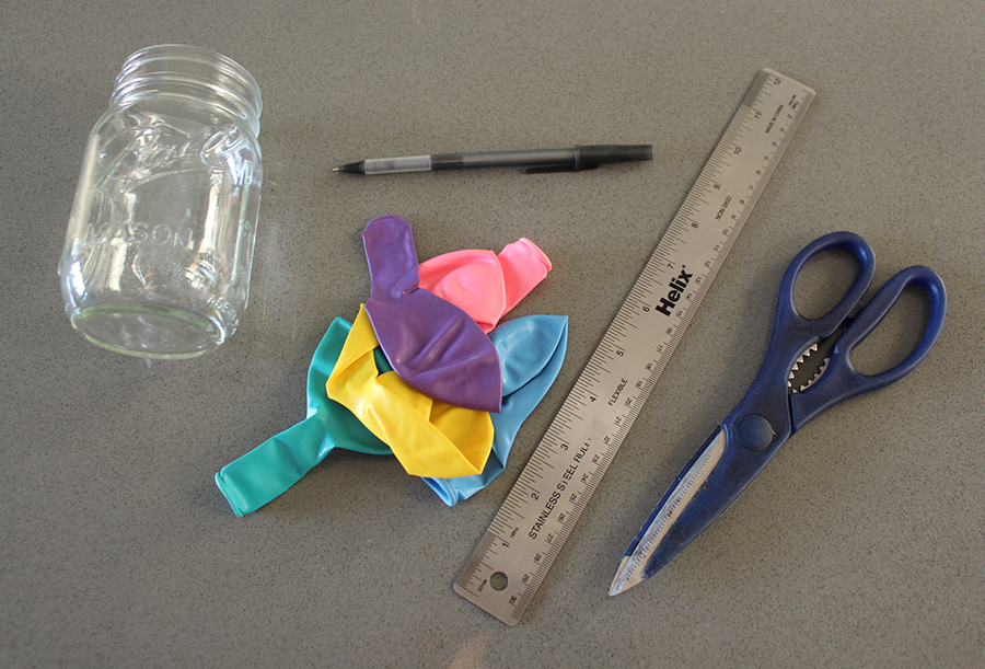 Materials for Mason Jar Balloon DIY