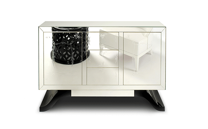 Mirrored Metropolitan Cabinet by Boca do Lobo