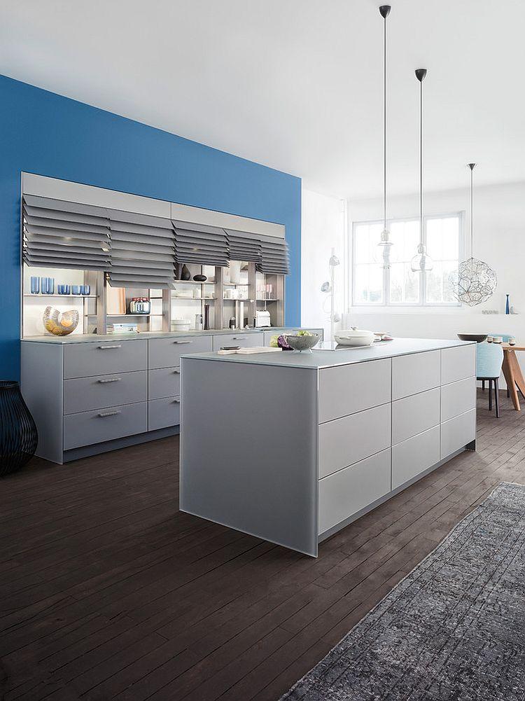 View In Gallery Modern Minimalist Kitchen Has An Airy, Posh Ambiance