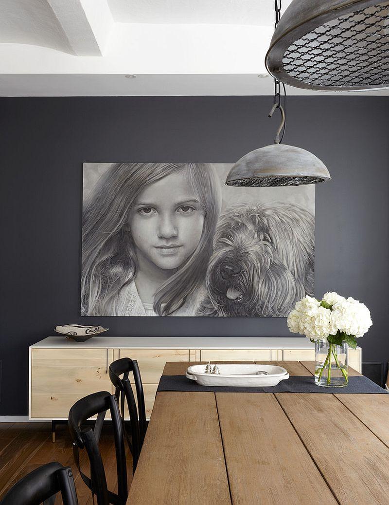 Modern minimalist dining room in classy gray {Design: SchappacherWhite Architecture]