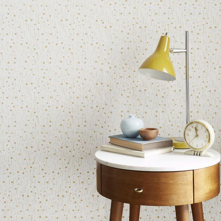 Modern neutral wallpaper from West Elm