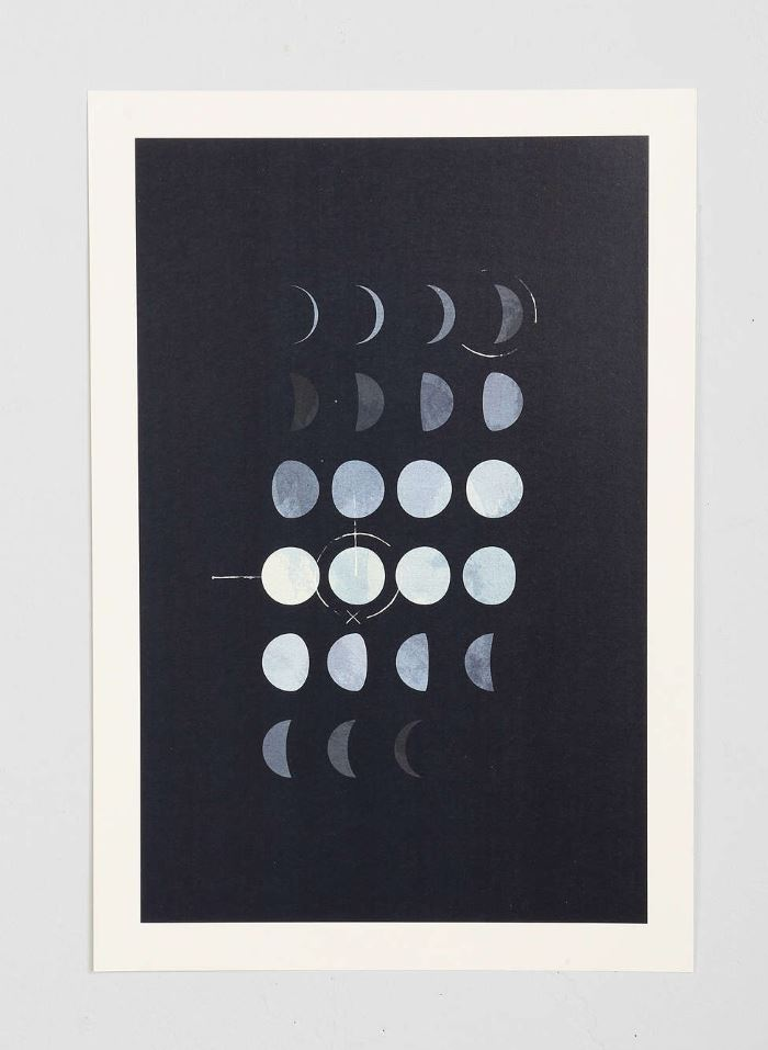 Moon phase art from Urban Outfitters