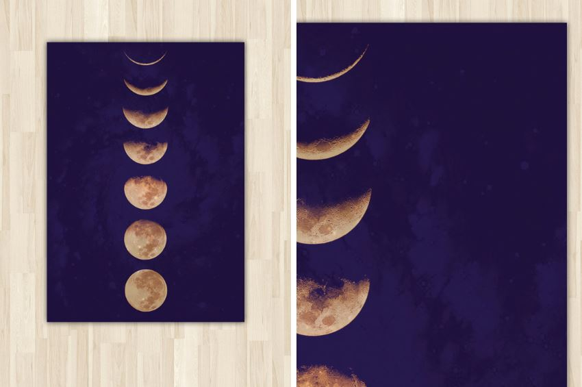 Moon phase poster from Etsy shop Pinepixel