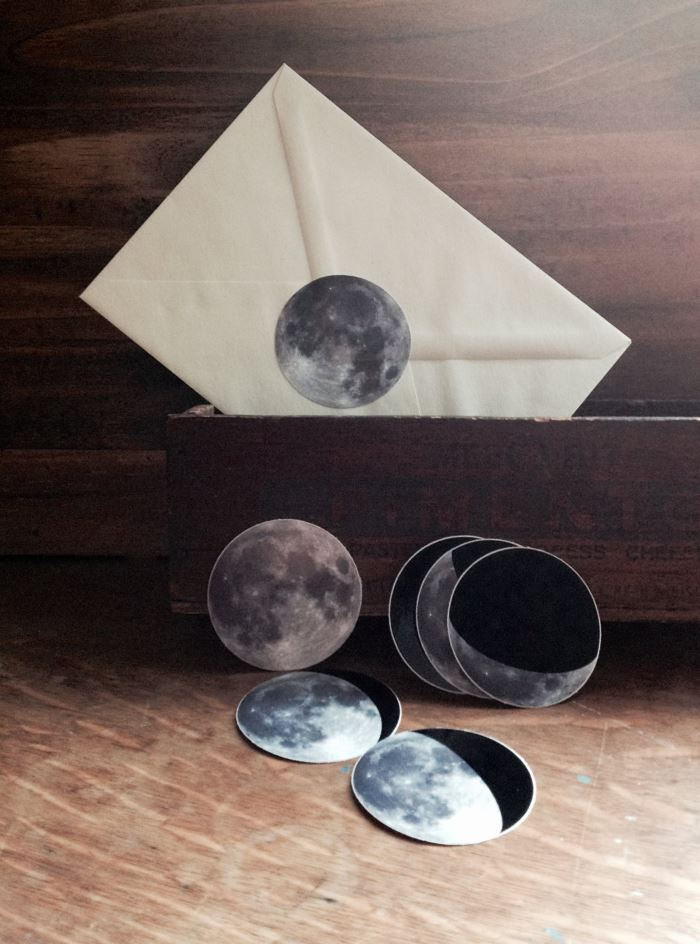 Moon phase sticker set from Etsy shop Milk Thistle Island