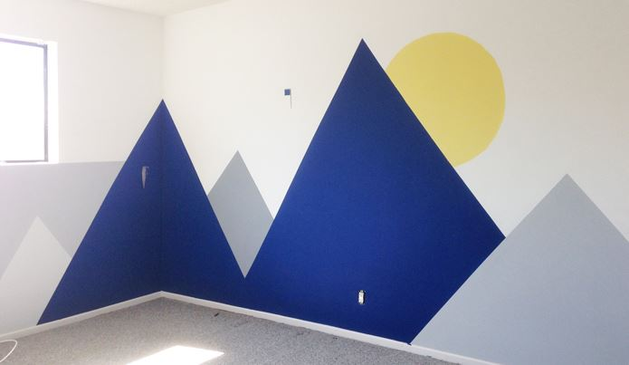 Mural painting details from Emily Henderson