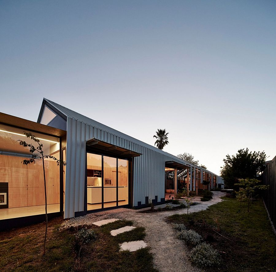 Narrow design of the Cut Paw Paw home in Seddon
