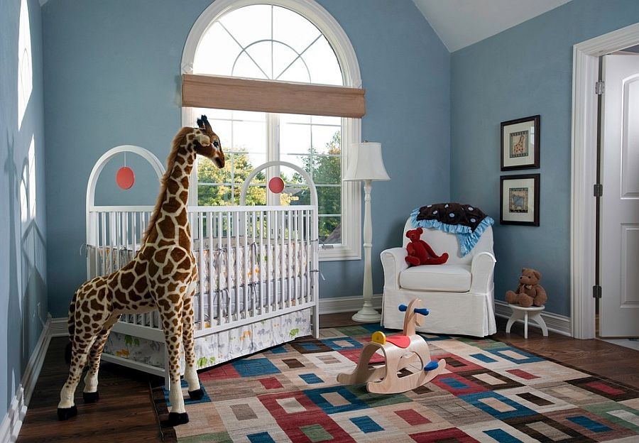 Nursery walls covered in American Clay make the room eco-friendly and non-toxic [Design: Fredman Design Group]
