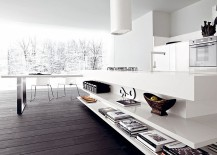 Open shelves allow you to decorate kitchen in style