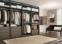 Organized Mixer walk in closet from Alf 217x155 10 Stylish Open Closet Ideas for an Organized, Trendy Bedroom
