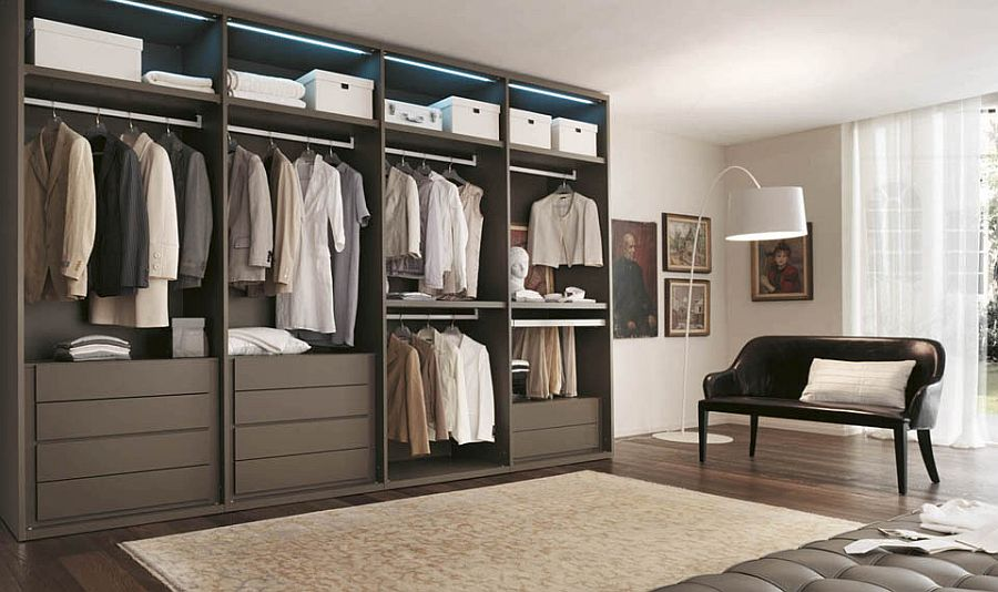 10 stylish open closet ideas for an organized trendy bedroom. Black Bedroom Furniture Sets. Home Design Ideas