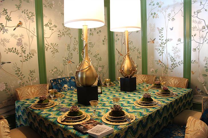 Ornate Emerald Themed Tablescape
