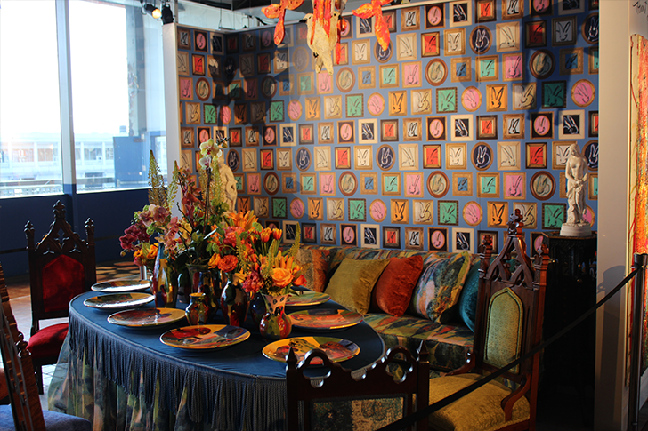 Ornate and Colorful Dining Room Table