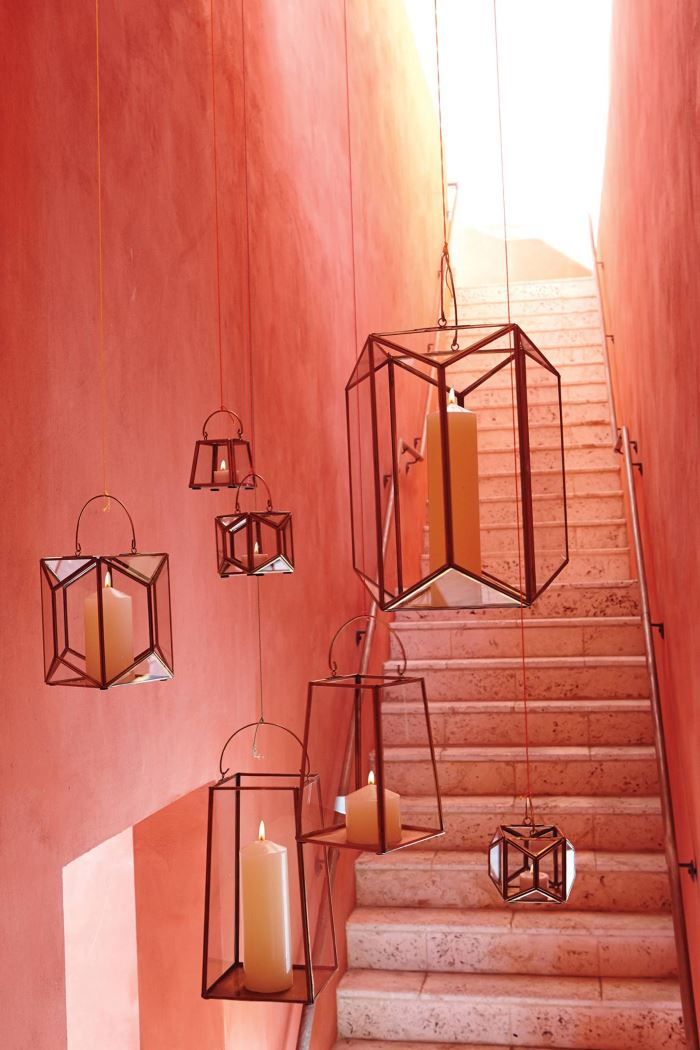 Outdoor geo lanterns from Anthropologie