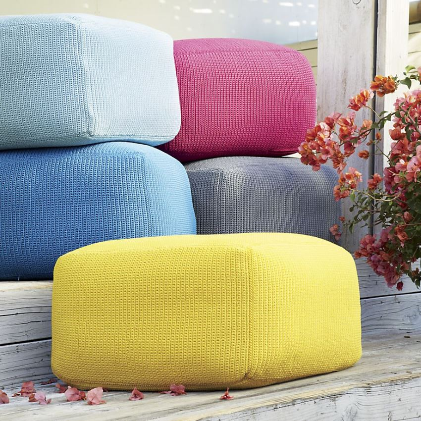 Outdoor poufs from Crate & Barrel