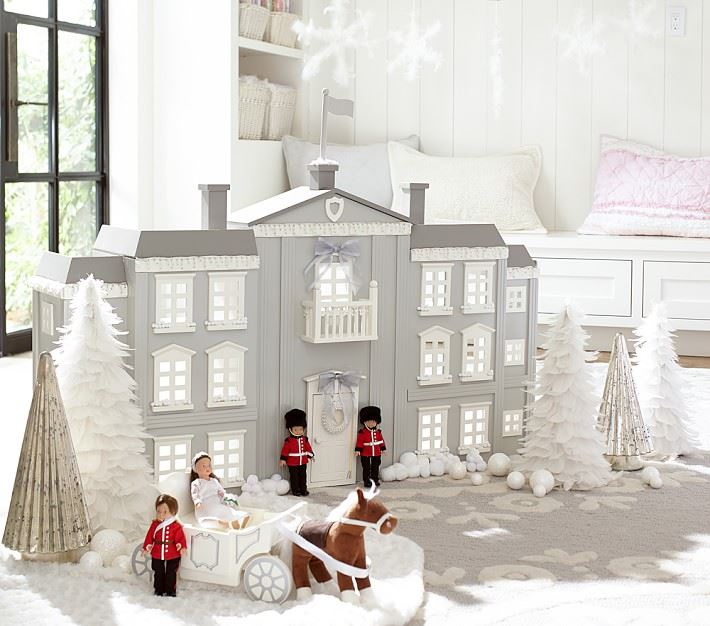 Palatial dollhouse from Pottery Barn Kids