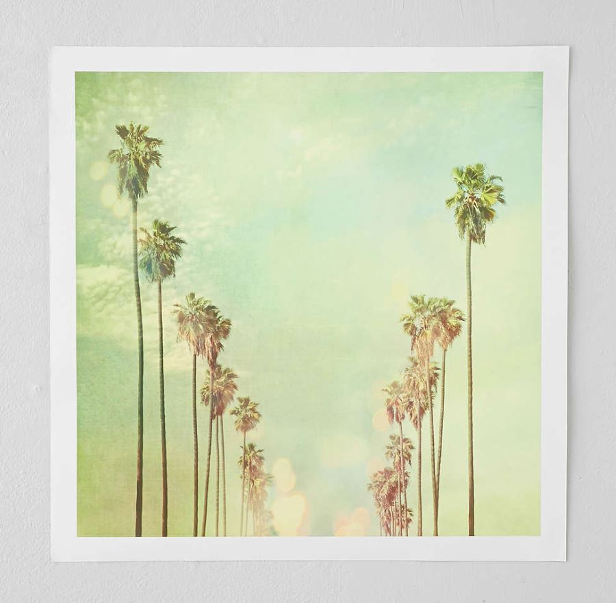 Palm tree art from Urban Outfitters