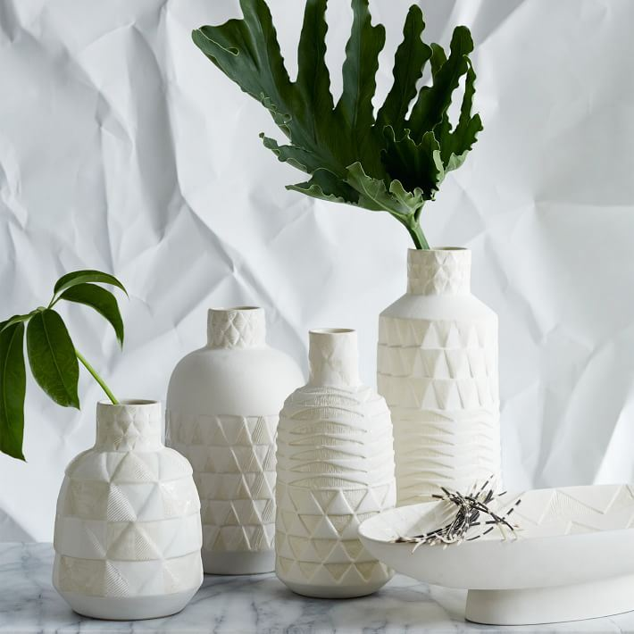 Patterned vases from West Elm