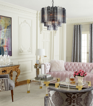 Plush Pastel Furniture in Posh Room