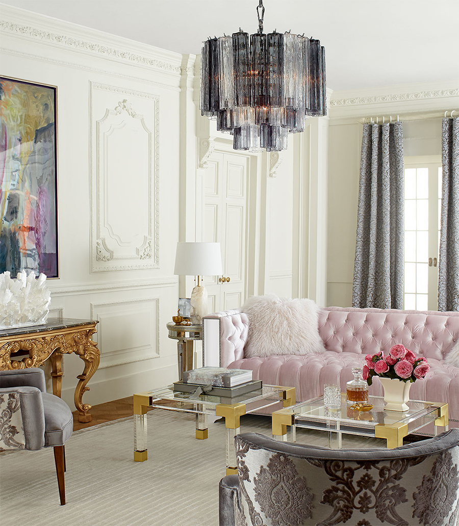 Plush Pastel Furniture in Posh Room 8 Mirrored Furnishings to Reflect Your Interior Design Style