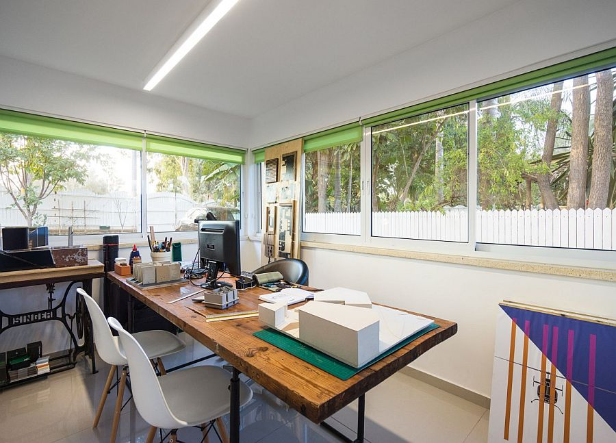 Practical home office design with plenty of natural ventilation