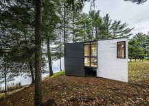 Prefabricated timber cottage in Quebec offers lovely views 217x155 Classy Cottage in Quebec Brings Modern Aesthetics to Traditional Design