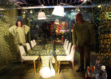 Psychedelic Yellow Dining Room