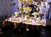 Purple Hued Dinner Table Design