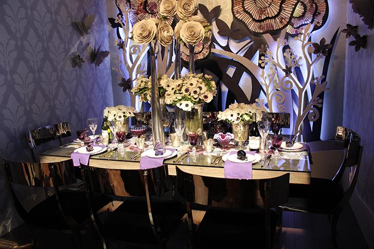 Purple Themed Table