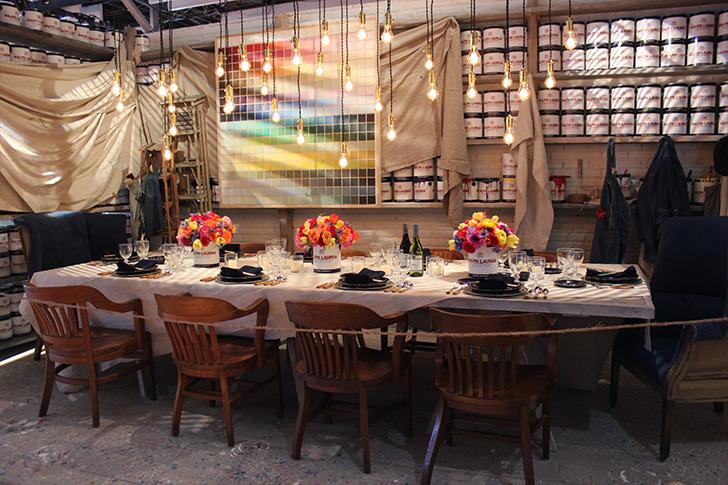 Ralph Lauren Paint Themed Dining Table