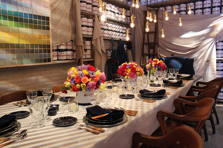 Ralph Lauren Paint Themed Dinner Design