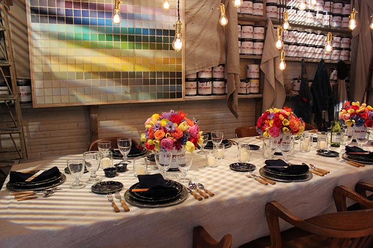 Ralph Lauren Paint Themed Tablescape