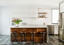 Reclaimed-wood-adds-warmth-to-the-contemporary-kitchen-in-white-217x155