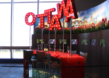Red Ottawa Marquee Table