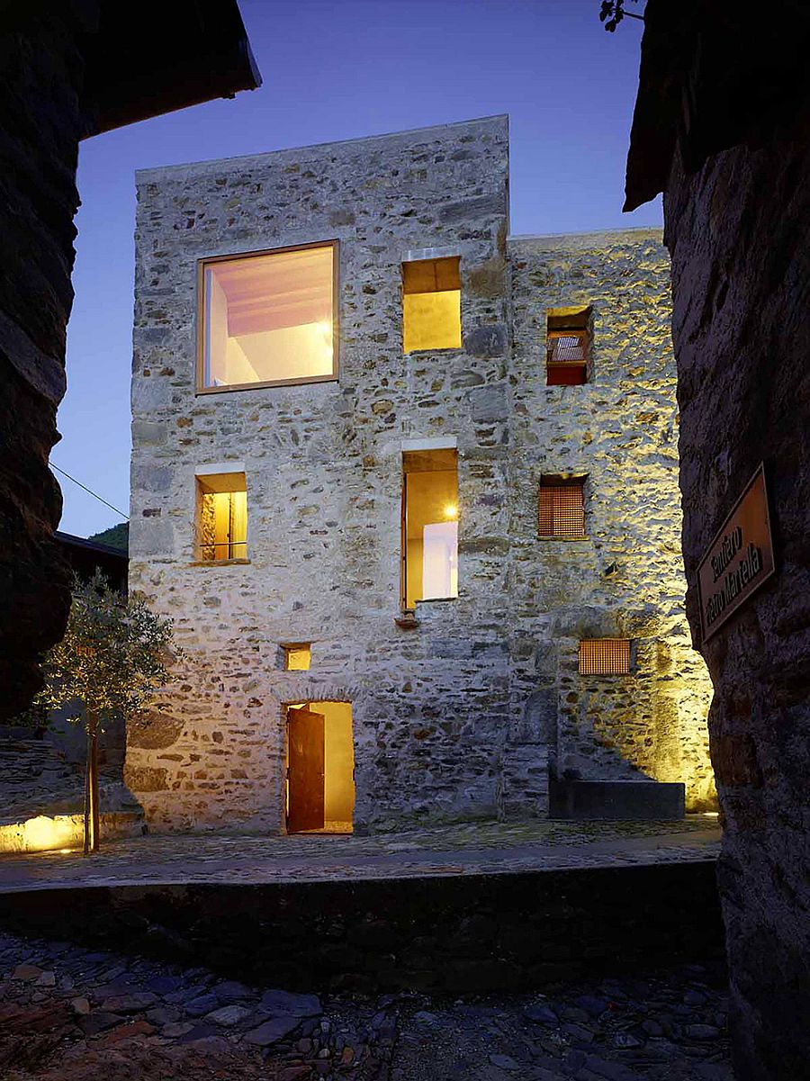 Renovated stone house in Switzerland