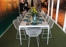 Retro Modern Summery Outdoor Tablescape