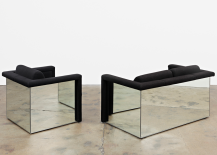 Robert and Trix Haussmann Lounge Seating with Mirrored Backs