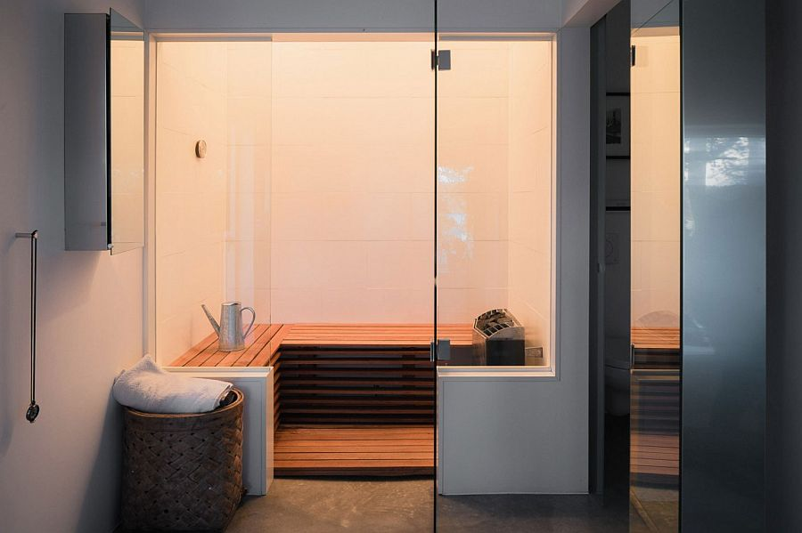 Sauna at the home offers complete privacy
