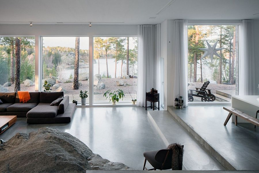 Scenic view of the landscape from the living area