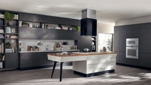 Sensational kitchen in gray with a fabulous island at its heart
