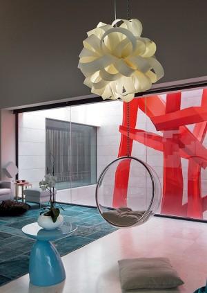 Sensational living room with plenty of color
