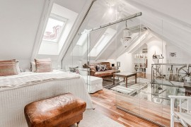 Awesome Glass Flooring and Scandinavian Beauty Shape Stockholm's Attic Duplex