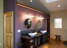 Skylight brings natural ventilation into the Asian bathroom