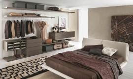 Sleek and open closet design keeps things organized