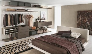 Sleek and open closet design keeps things organized