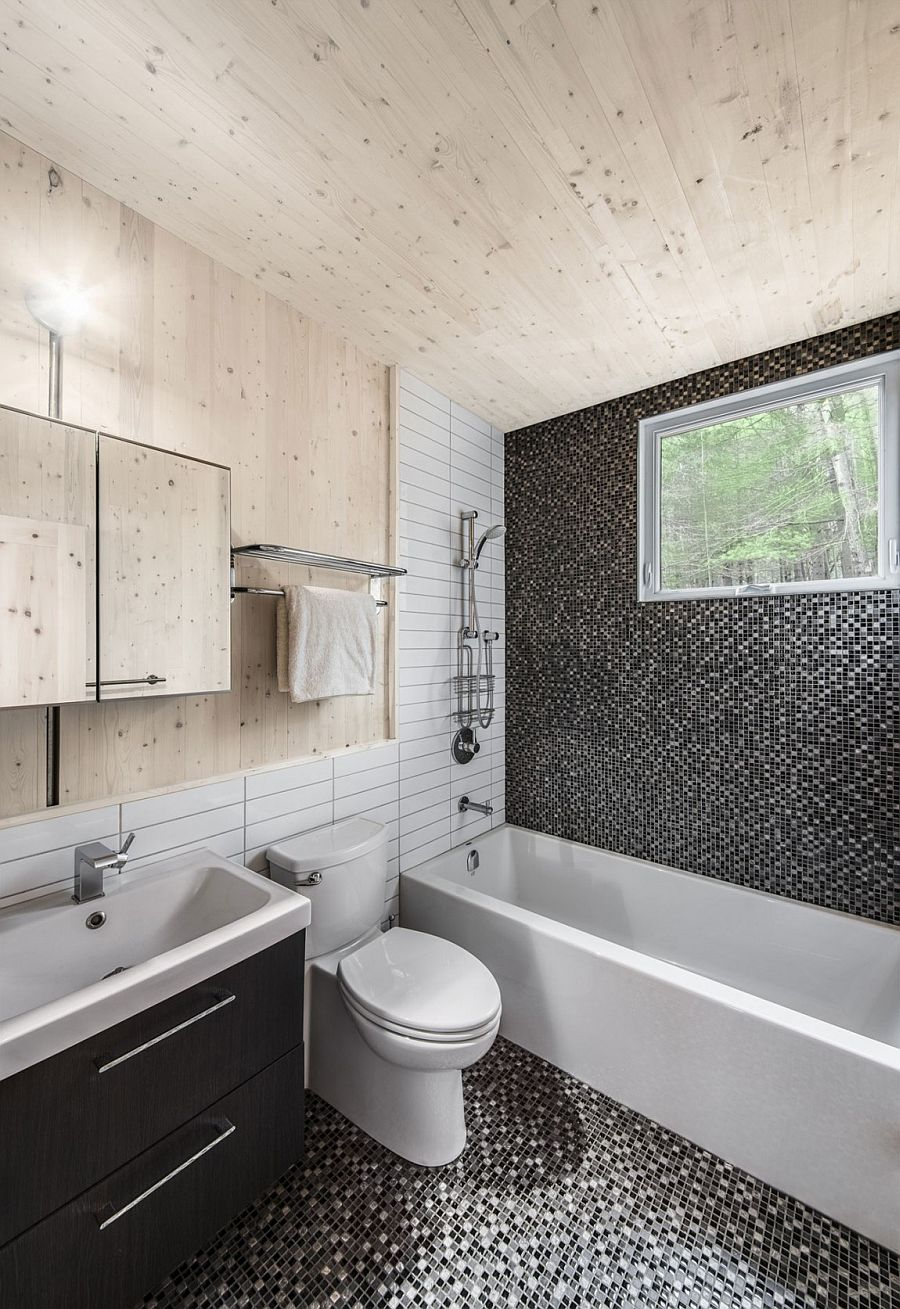 Smart bathroom combines the modern and the rustic