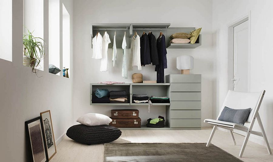 View In Gallery Smart Closet Saves Up On Precious Space In The Bedroom