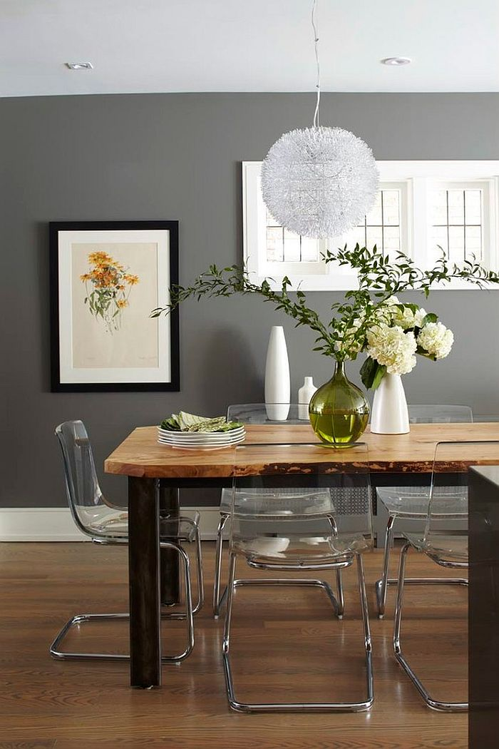 ... Smart Dining Room In Gray Keeps Things Simple And Stylish [Design:  Barlow Reid Design