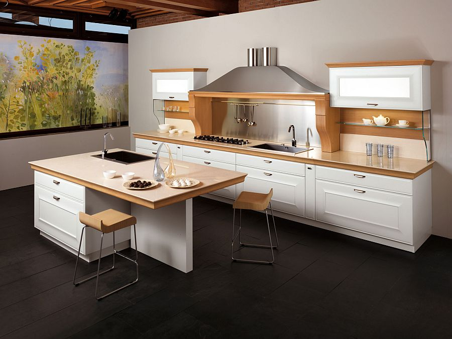 Distinctive metallic hoods and modular flexibility shape for Smart kitchen design