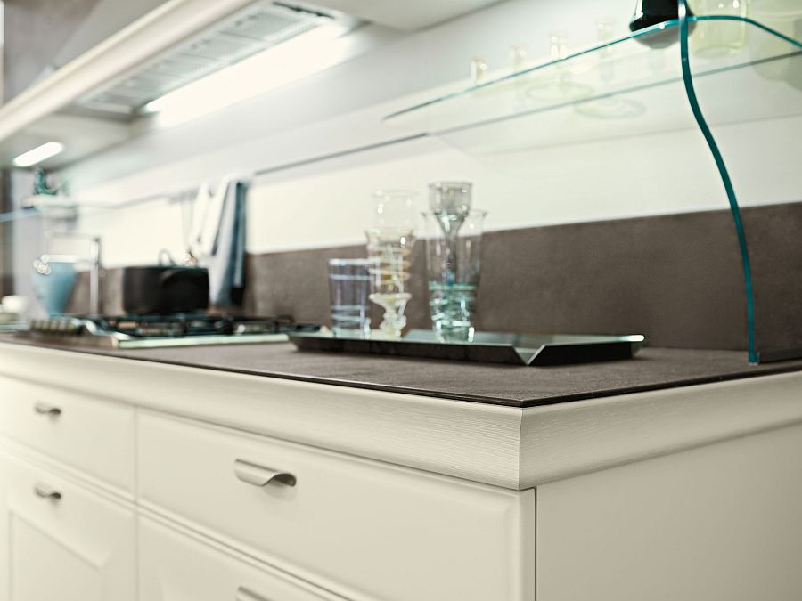 Smart worksurfaces and beautiful shelves shape the modern kitchen